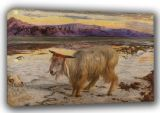 Hunt, William Holman: The Scapegoat. Fine Art Canvas. Sizes: A3/A2/A1 (00486)